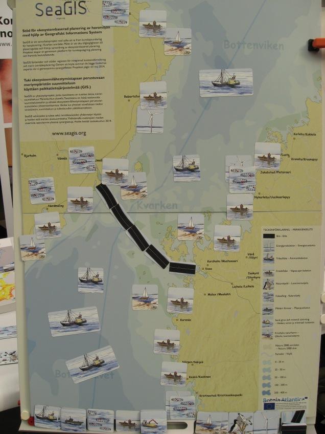Havsplan för Kvarken enligt besökarna på evenemanget.