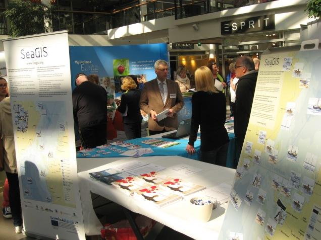 SeaGIS utställningspunkt vid 'EU och du'-evenemanget
