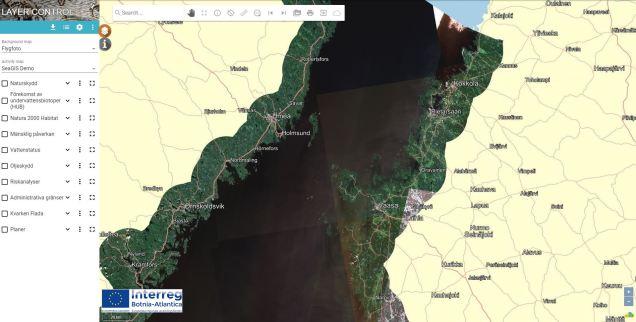 Karttjänst skärm